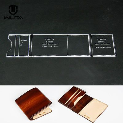 1c5b123afcc4 Acrylic Pattern card Case Leather template for leather crafter 857 ...