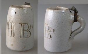 Für Puppen: Miniatur Bierkrug HB Steinzeug um 1900 (35154)