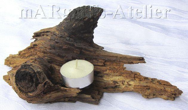 Kerzenständer - Kerzenständer aus Holz - ein Designerstück von mARgriTs-Atelier bei DaWanda