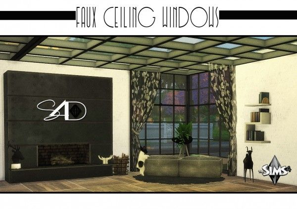 Sims 4 Designs Faux Ceiling Windows S