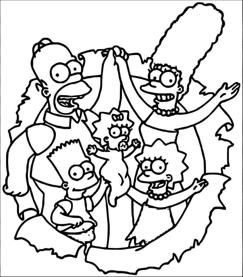 The Simpsons Coloring Page 168 Coloriage, Dessin simpson