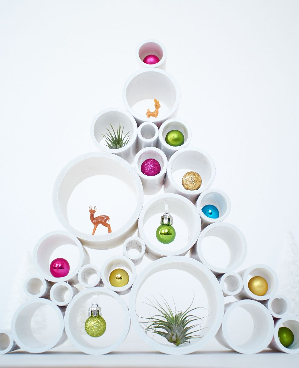 69537ff9b62a How To: Make a PVC Pipe Small-Scale Christmas Tree | DIY Holiday ...