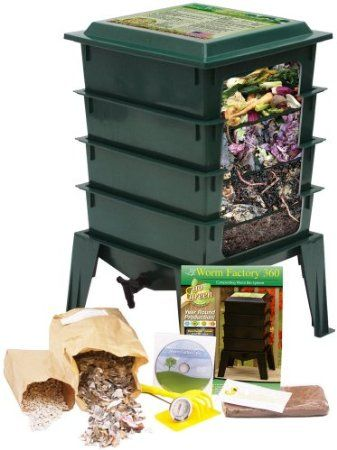 Amazon.com: Worm Factory 360 WF360G Worm Composter, Green: Patio, Lawn & Garden