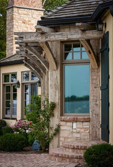 Rustic #French Country style #trellis.  Old World House =.