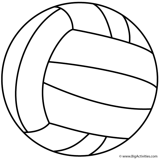 Volleyball Coloring Page Sports Sports Coloring Pages Coloring Pages Volleyball