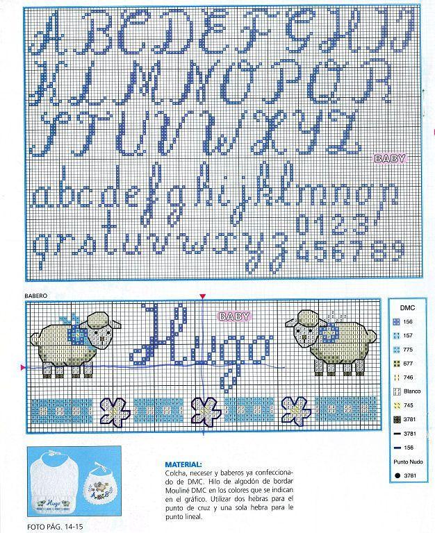 Resultado de imagen para alfabetos en punto de cruz - Muestras y motivos punto de cruz ...