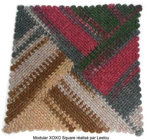 Modular XOXO Square pattern by Sophie GELFI Designs