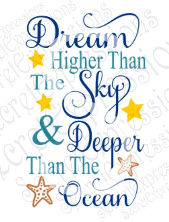Dream Higher Than The Sky Svg Inspirational Motivation Etsy In 2020 Inspirational Quotes Lettering Quotes Life Quotes