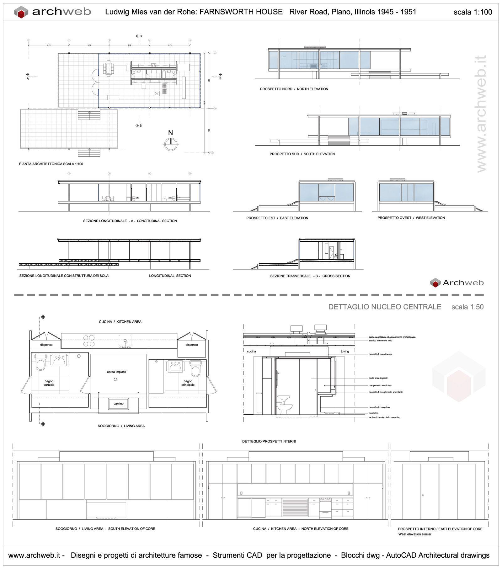 Farnsworth House drawings plan M s. Farnsworth House drawings plan     Pinteres