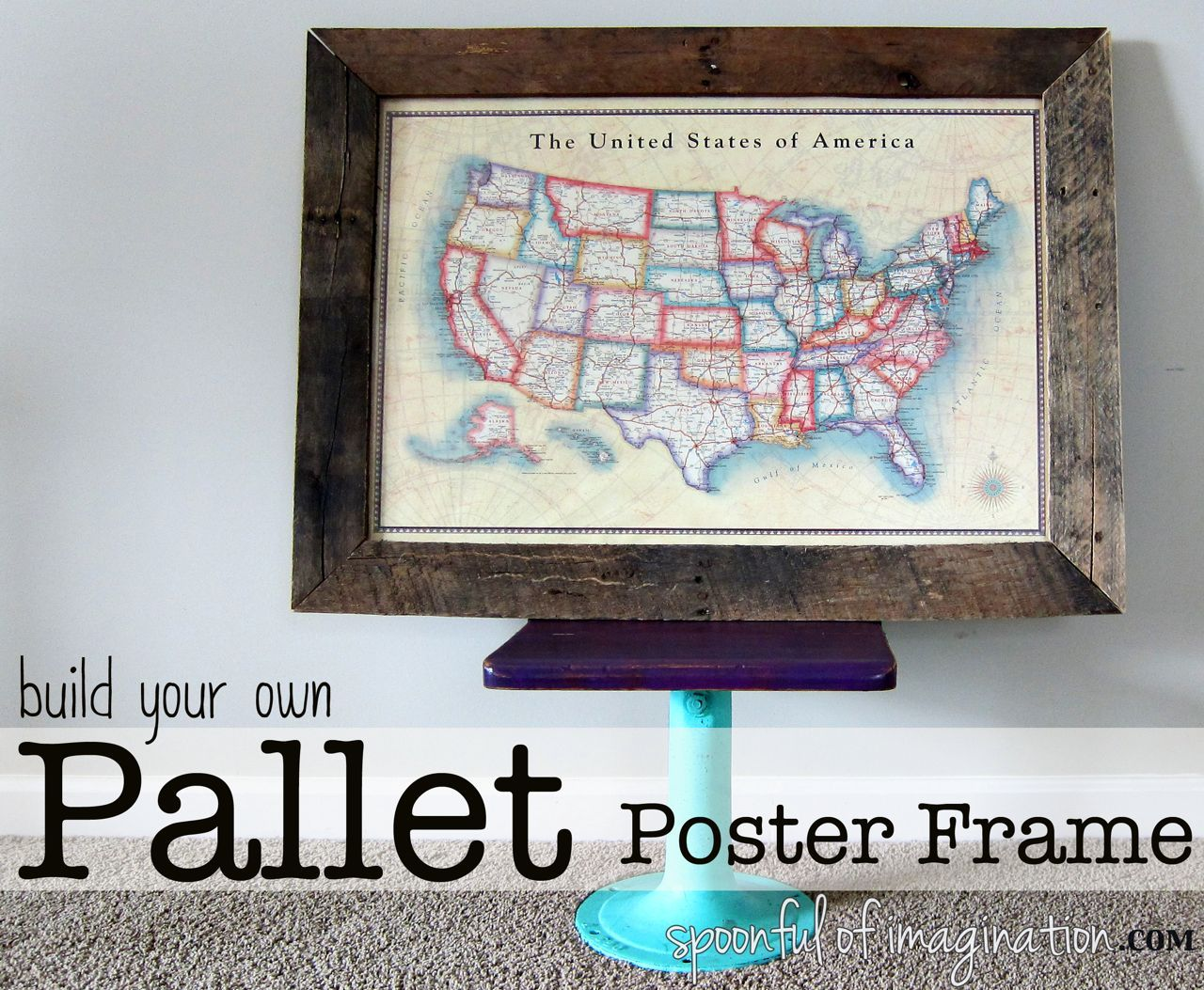 DIY Pallet Poster Frame - for stripe the field print | Husband to ...