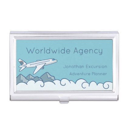 White jet aircraft flying above the clouds business card holder white jet aircraft flying above the clouds business card holder travel trip colourmoves