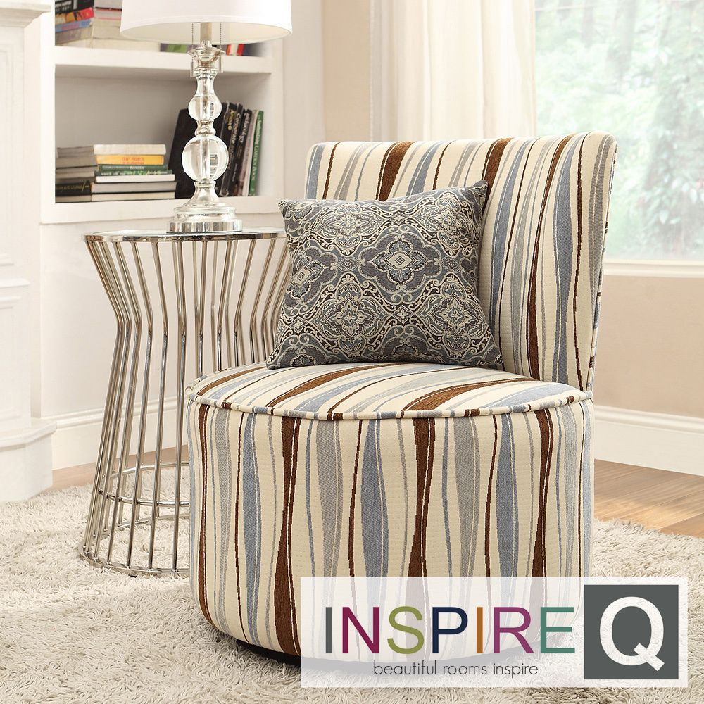 Moda Pastel Wavy Stripe Modern Round Swivel Chair | Overstock.com Shopping - The Best Deals on Chairs