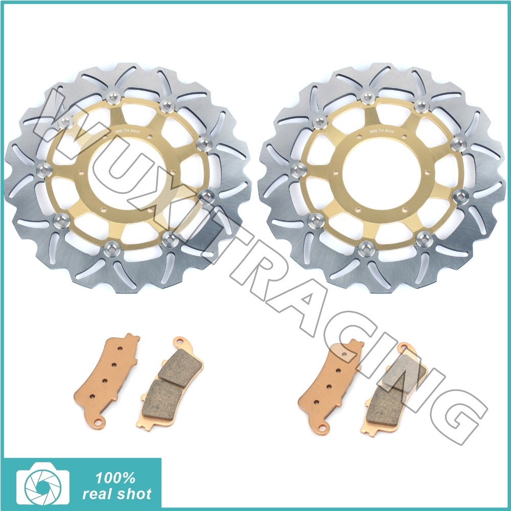 223.18$  Watch here - http://aliug6.worldwells.pw/go.php?t=32672771968 - Front Brake Discs Disks Rotors Pads for Honda VTX1800 R 02-07 VTX 1800 C C1 C2 C3 02-08 VTX 1800 F1 F2 F3 05-11 N1 N2 N3 T1 T2 S