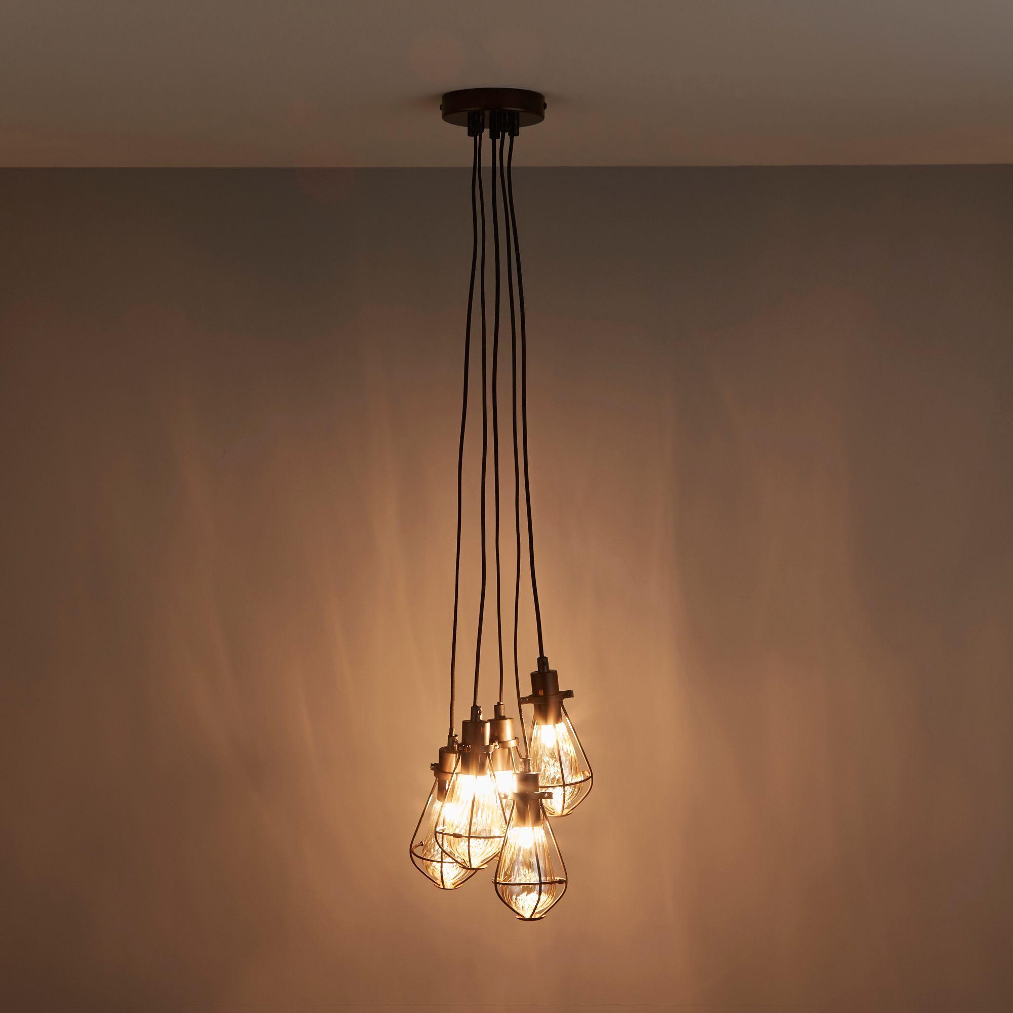 Bronze Effect 5 Lamp Ceiling Light