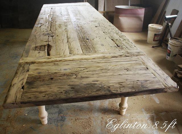 Wonderful Handmade Wood Tables | Unfinished Custom Reclaimed Wood Harvest Table  Toronto