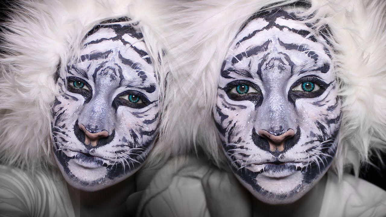 white tiger makeup tutorial how to face paint fasching pinterest gesicht schminken. Black Bedroom Furniture Sets. Home Design Ideas