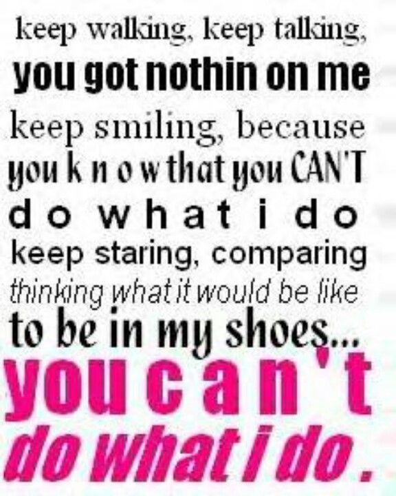 I will always do it better!!! Always!!