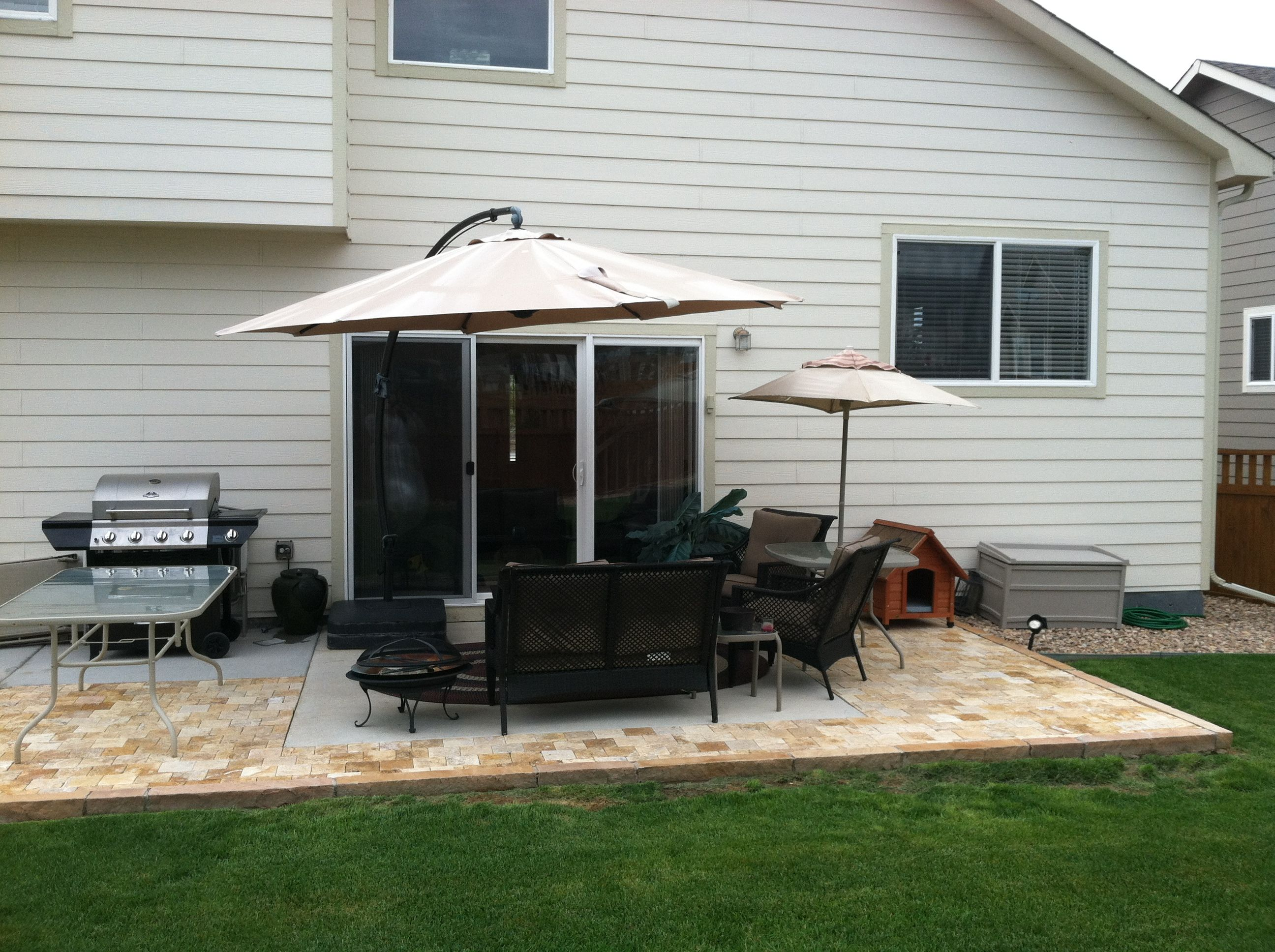 Extending Patio With Pavers. Building Dream Home