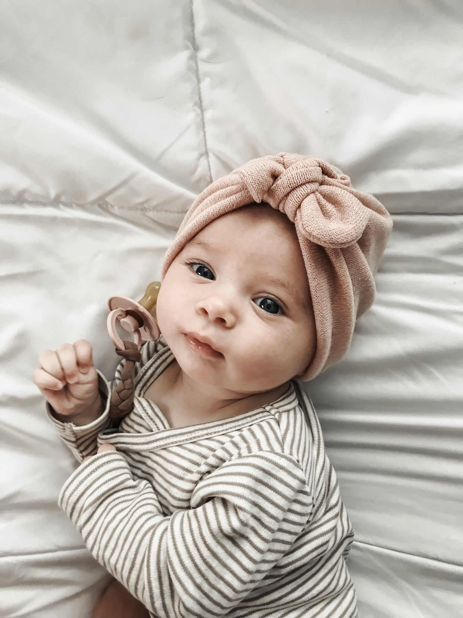 Photo of Oh Nora girl. How I love you so. ((Blush knit sweater hat: Turbans For Tots))