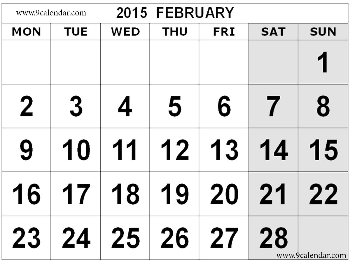 February 2015 Calendar Printable Projects To Try Pinterest