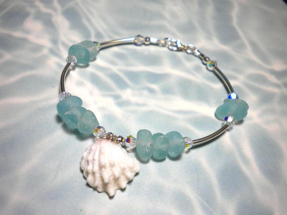 Seashell Jewelry Real Seashells   And since I was on a seashell and seaglass kick last week, I made this ...