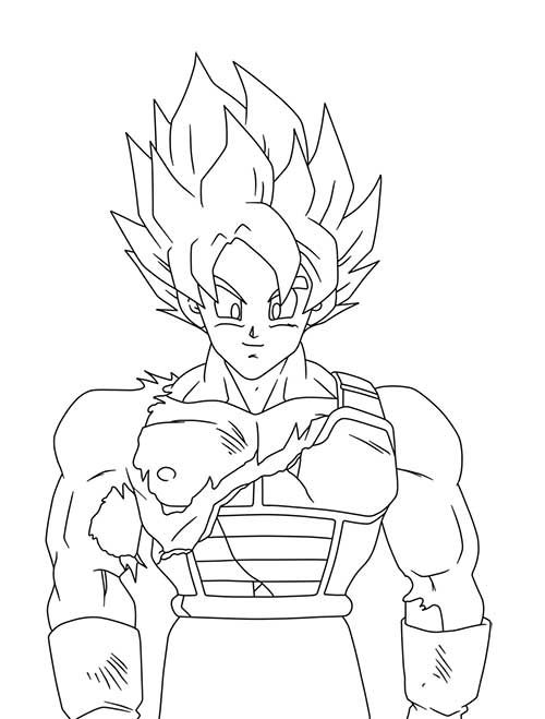 50 Desenhos do Goku para Colorir (Anime Dragon Ball Z) | Dragon ball ...