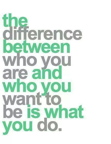 What you do....