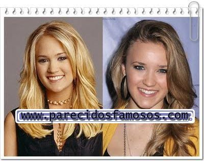 Parecidos con famosos: Carrie Underwood con Emily Osment