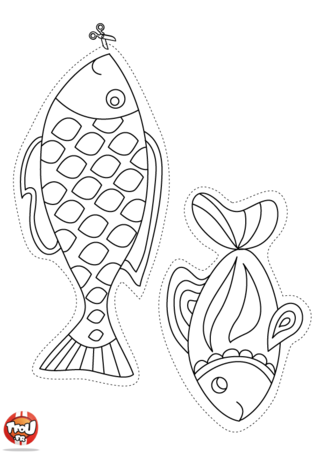 Printable coloriages poisson d 39 avril fish template and craft - Poisson d avril dessin ...