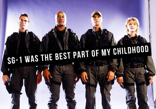Definitely one of the remaining happy memories I shared with my dad. I'll never forget SG-1.