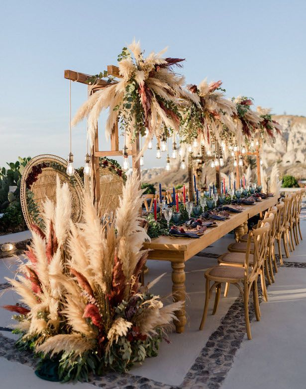 Pampas Grass Wedding Ideas for the Boho Glam Bride