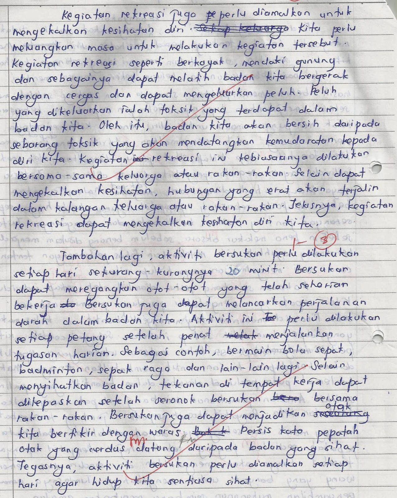 Laman Bahasa Melayu SPM CONTOH KARANGAN TERBAIK PELAJAR SMAKASAS
