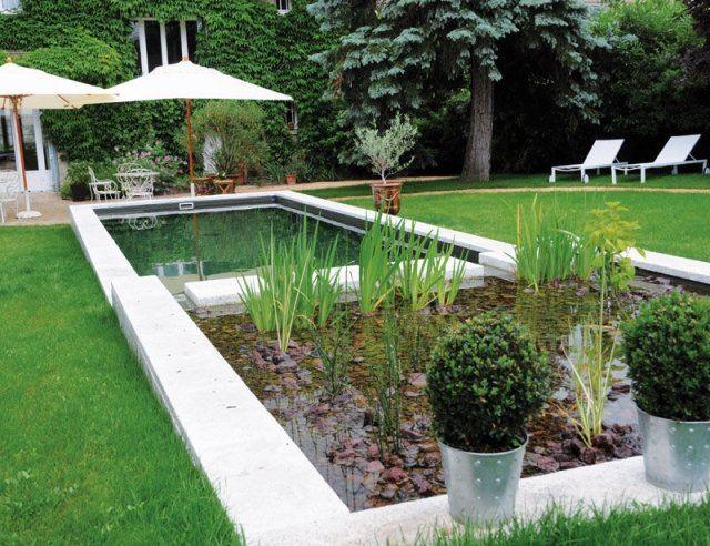 moderner schwimmteich garten anlegen wasser natürlich reinigen, Garten und bauen