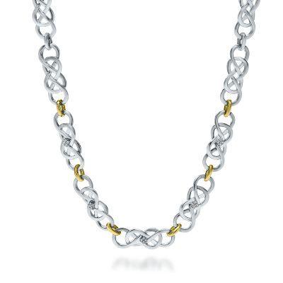 INFINITY X INFINITY Diamond Necklace
