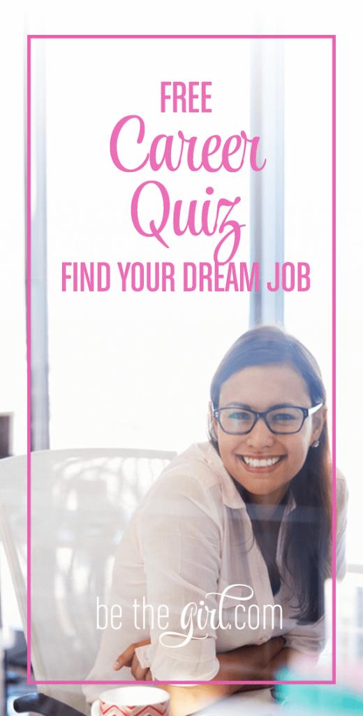 Career Quiz to Find Your Dream Job Career quiz, Dream