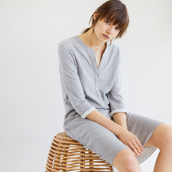 Buttoned V Neck Nightdress Women S Loungewear Loungewear Zara Home United Kingdom Nachtkleid Zara Home Zara