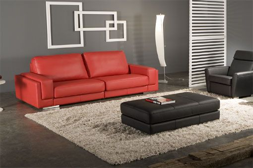 Red Couch Wall Color And Rug