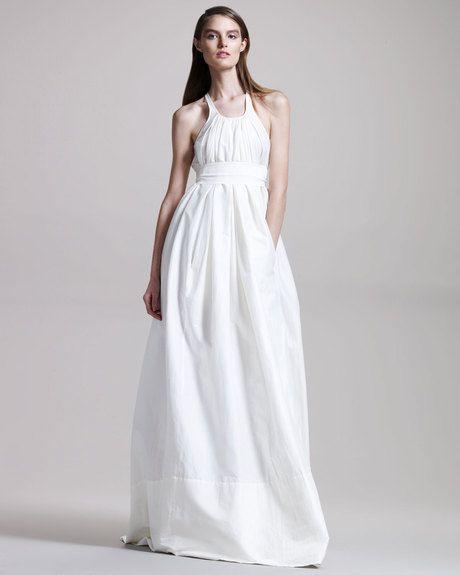 Rick Owens Maxi Beach Dress In White