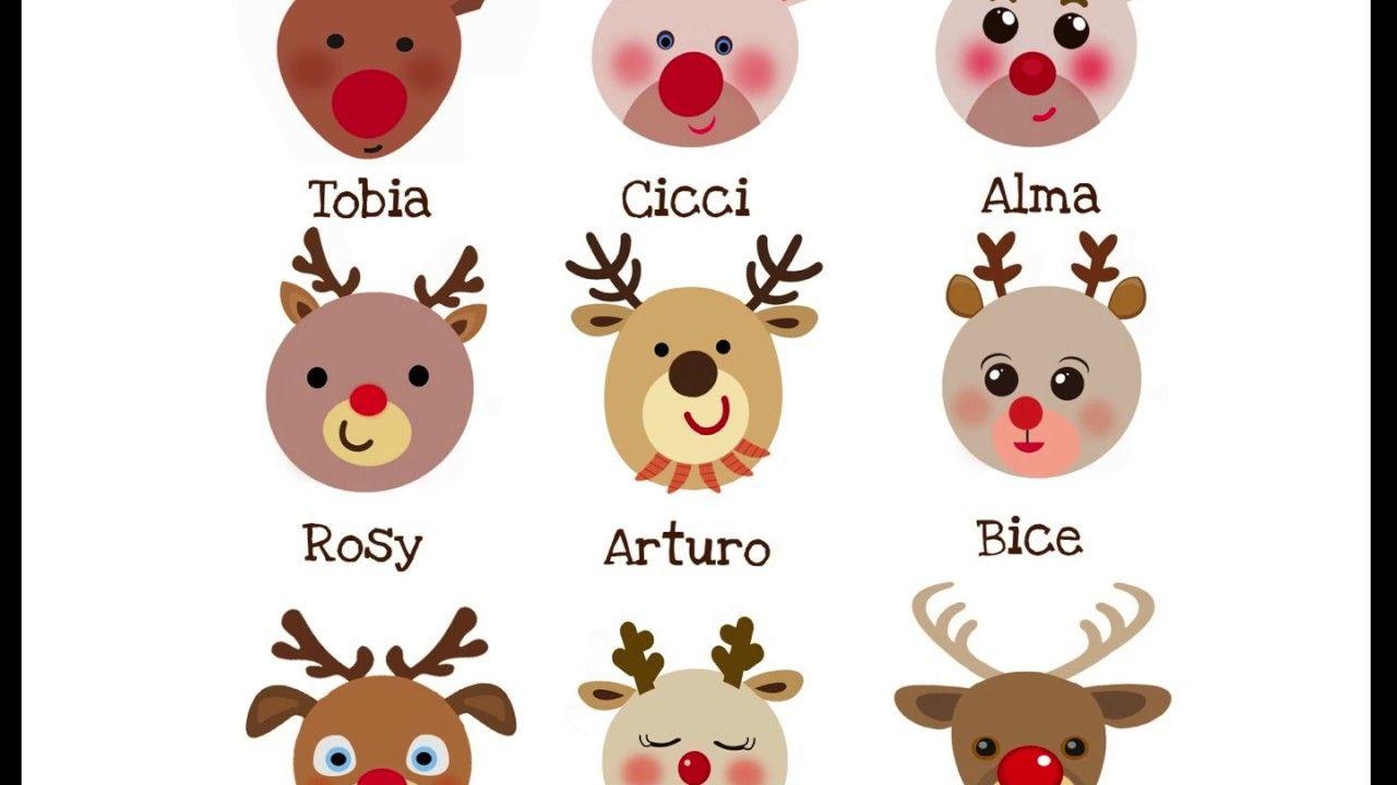 Come Si Chiamano Le Renne Di Babbo Natale.Le Renne Di Babbo Natale Di Patrizia Nencini Musica Di Piero Renne Di Babbo Natale Natale Babbo Natale