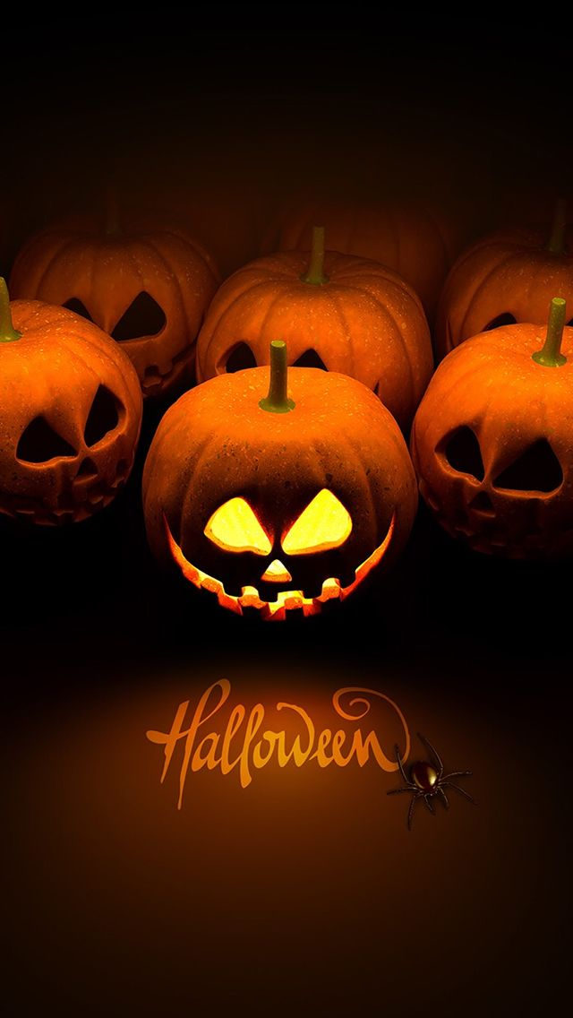 Halloween Pumpkin iPhone 5s Wallpaper Halloween