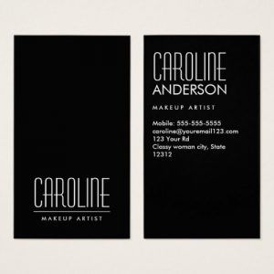 black vertical personal profile or business card customizable name and title business name - Graphic Design Business Name Ideas