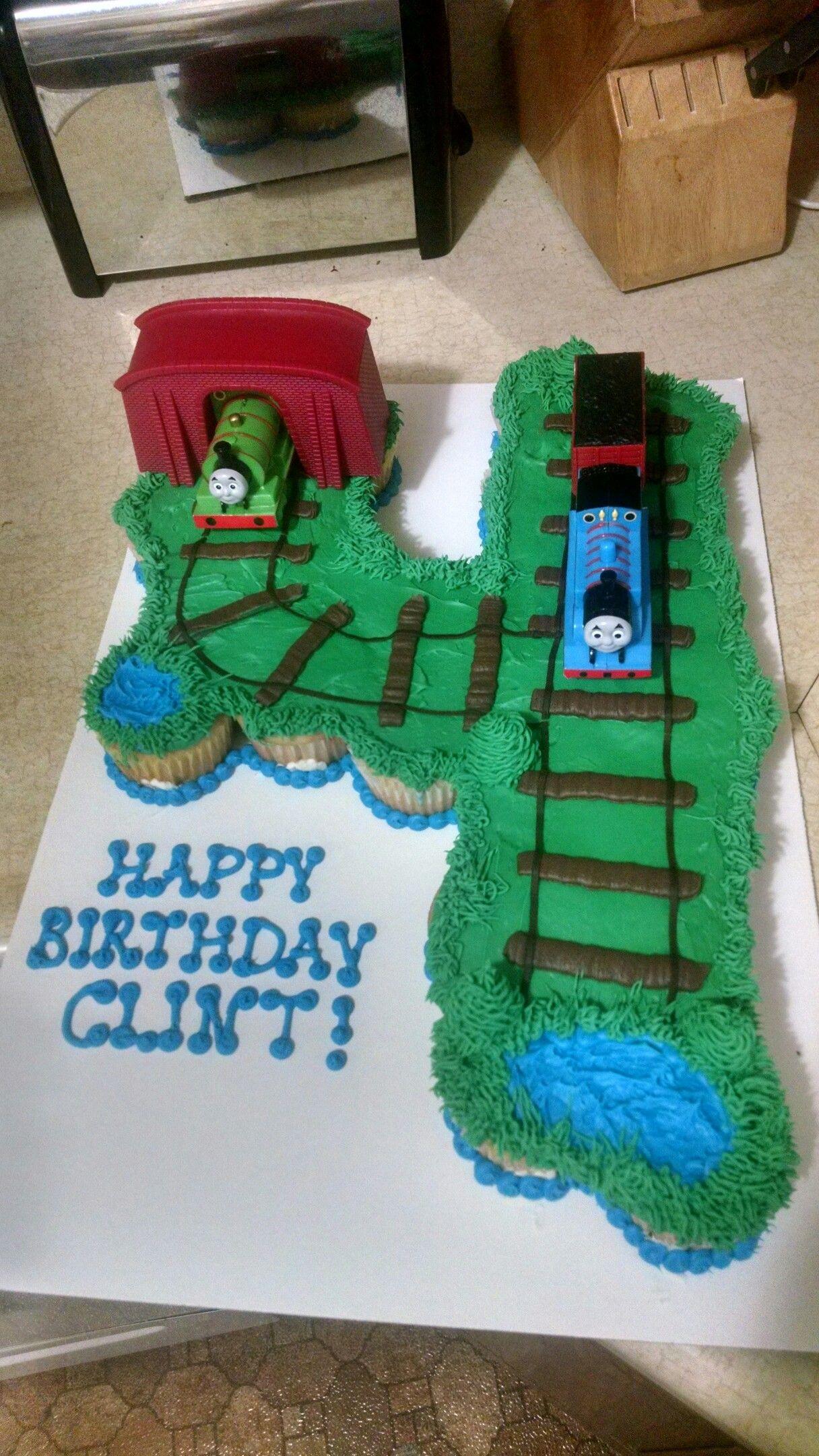 Thomas The Train Cupcake Number Pull Apart Cake Toddler Birthday