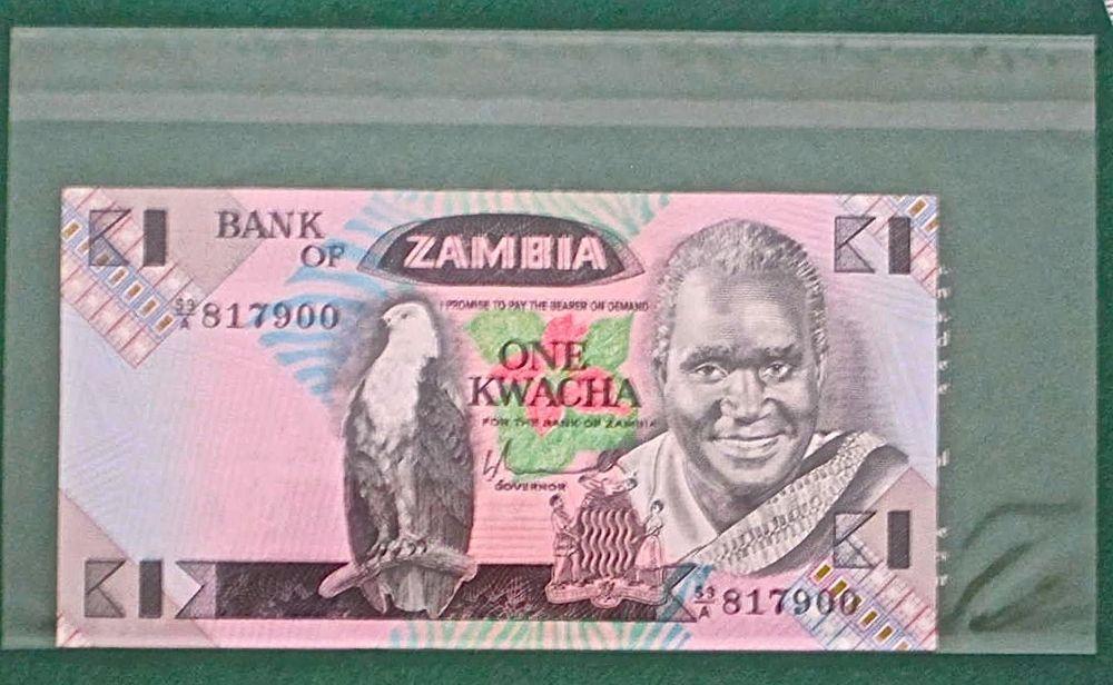 1 Kwacha Zambia 1980-1988 Banknote UNC