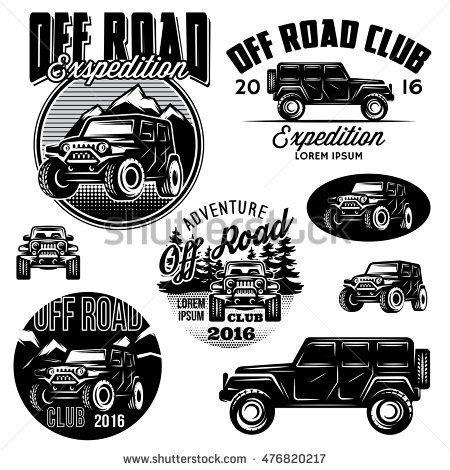 set of vector templates for suvs off road sport club logos monro rh pinterest com