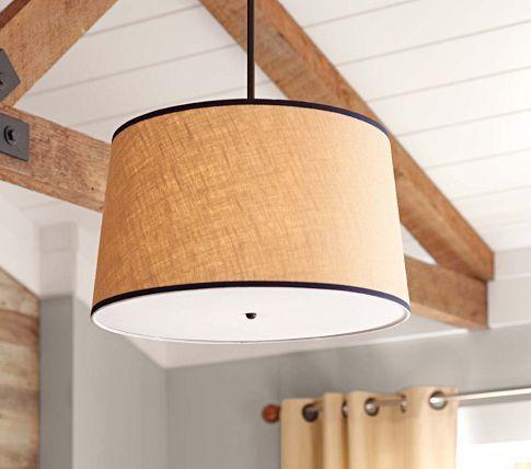 Diaperscomnursery khaki navy drum flush mount light pottery barn kids kids lightingwall lightingkids ceiling