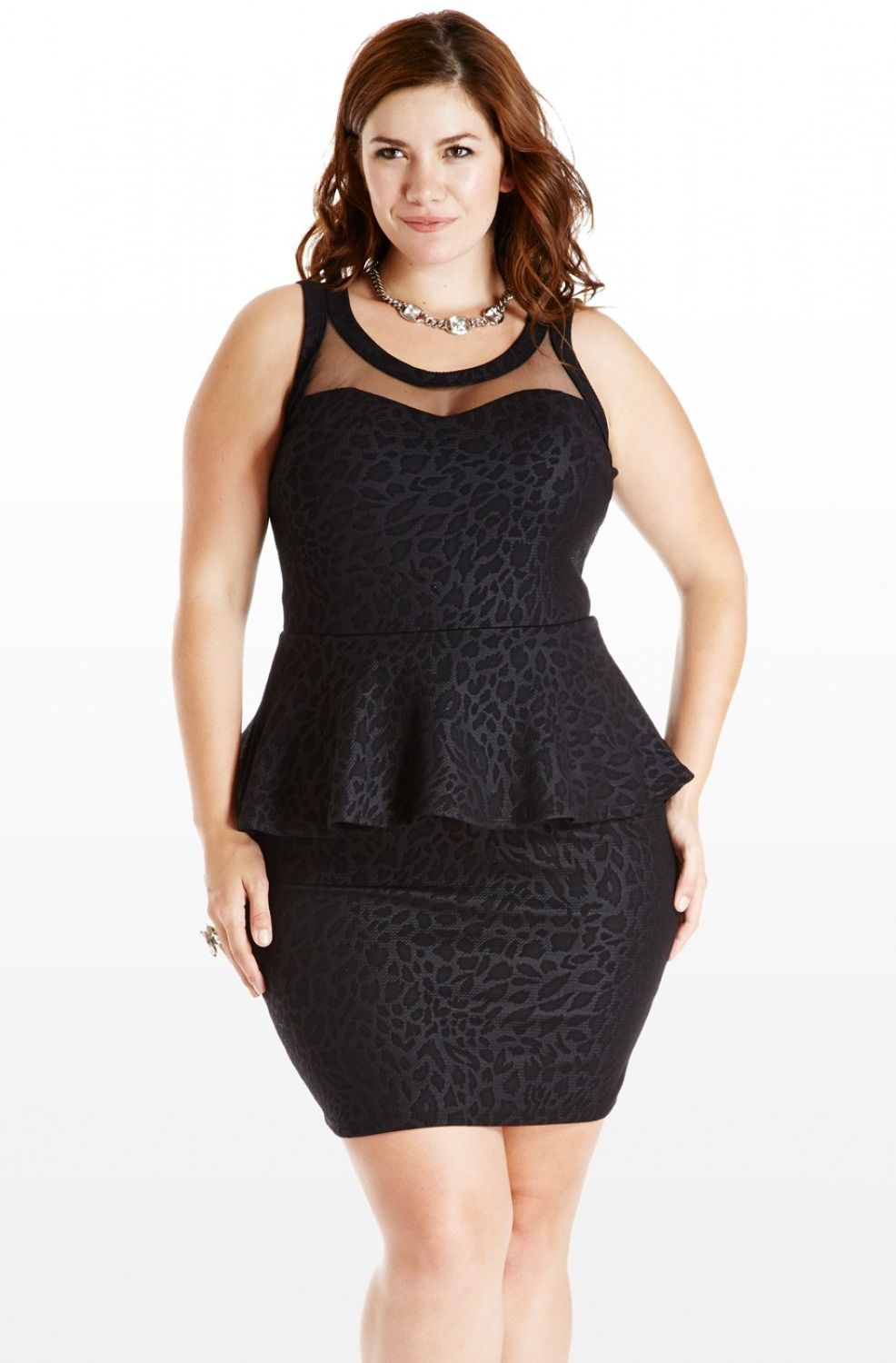 Black-Plus-Size-Peplum-Dress | Bachelorette/ bachelor party ideas ...