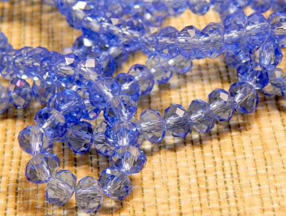 6mm Tanzanite Blue Swarovski Crystal Glass Roundel Beads for Necklace Pendant…