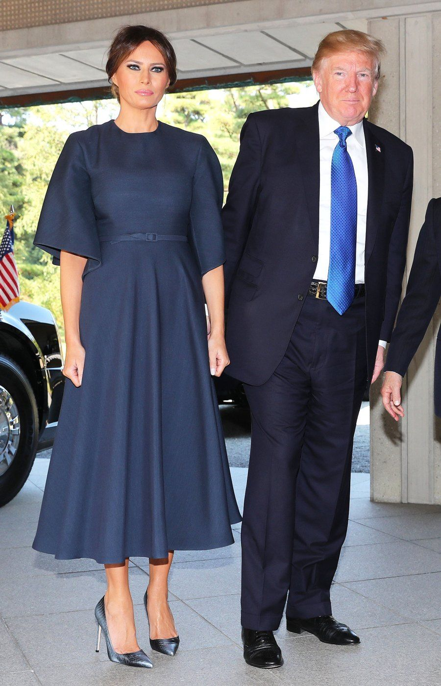 47ca8e7ab96 The #Blue #Dress #Melania #Trump Just #Wore in #Japan #Shows ...