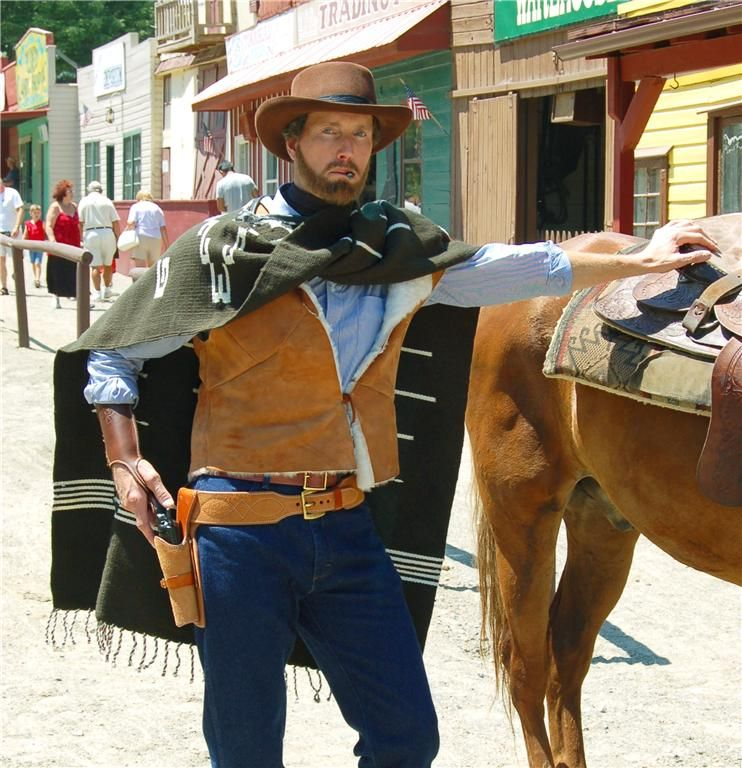 Clint Eastwood StyleSpaghetti Western Poncho - Vest - Gun ...