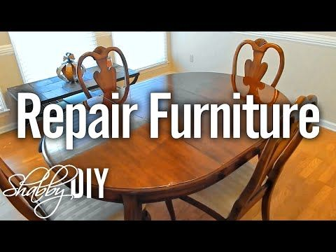 Repair Scratches On Furniture With Polyurethane Wood Finish
